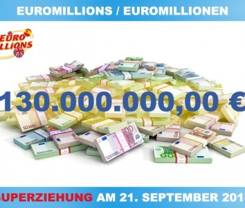 Euromillions – 130 Millionen Superziehung am 21. September 2018