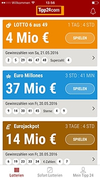 tipp24-lotto-app
